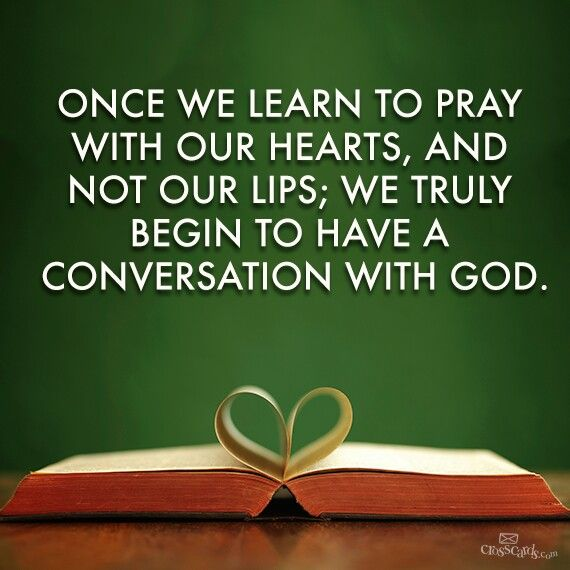 Pray with our hearts